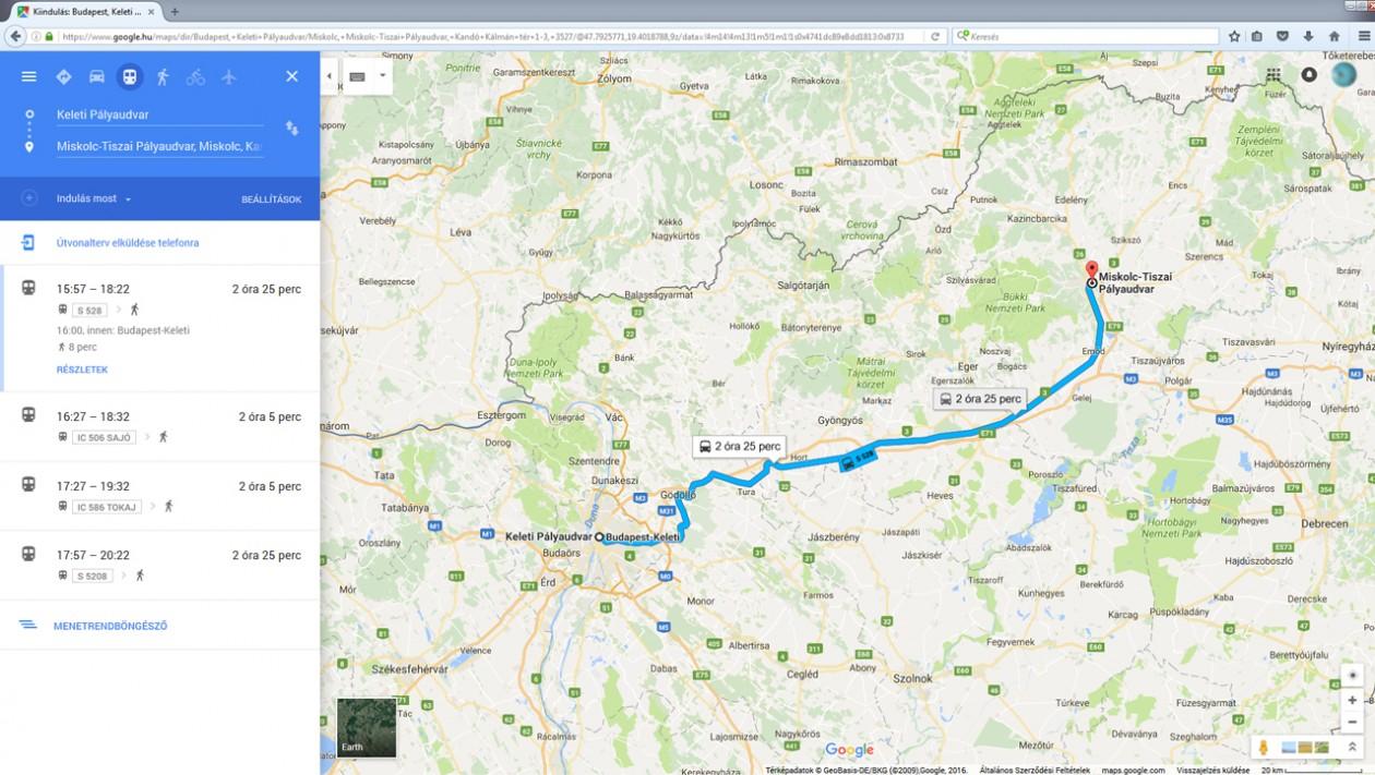 debrecen google térkép Már a teljes magyar vasúti menetrend is elérhető a Google Térképen  debrecen google térkép