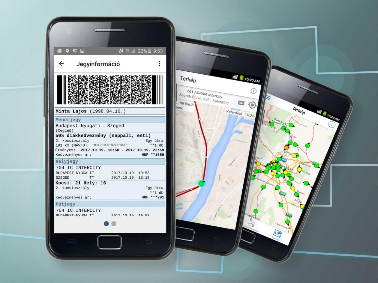 Jegyvásárlás a MÁV mobilapplikáción