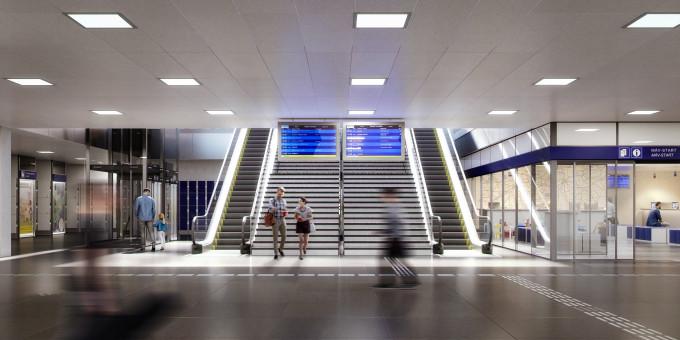 Az utascentrum látványterve