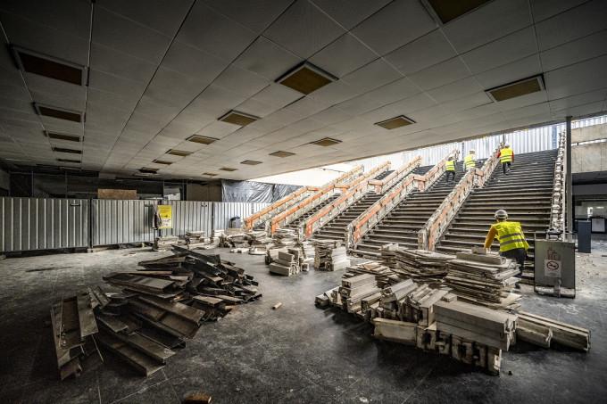 Keleti pályaudvar_utascentrum építés 2